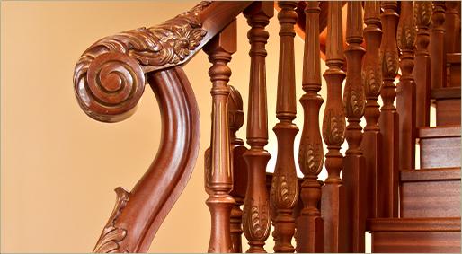 Производство и продажа плоских деревянных балясин для